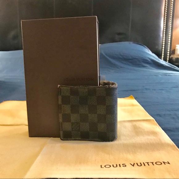 3ece197aa81a Louis Vuitton Other - Auth Louis Vuitton Ebene Bifold wallet coin wallet